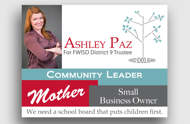Ashley Paz Campaign Materials